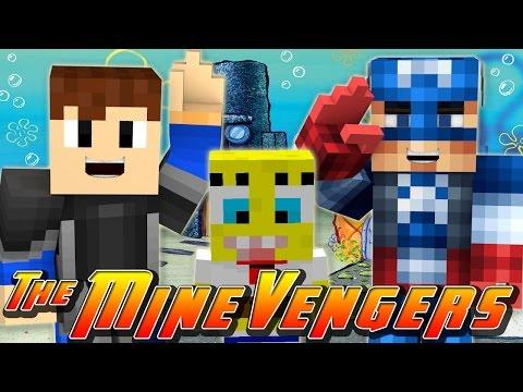 Minecraft MineVengers -  CAPTAIN AMERICA VISITS BIKINI BOTTOM w/ Scuba Steve!!