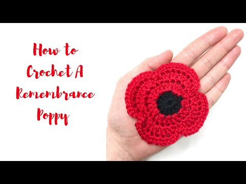 How To Crochet A Remembrance Poppy - EASY! Beginners Project