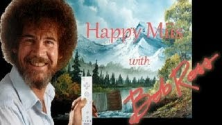HAPPY Miis with BOB ROSS - A Kratos + Hawkeye & Chell Miis
