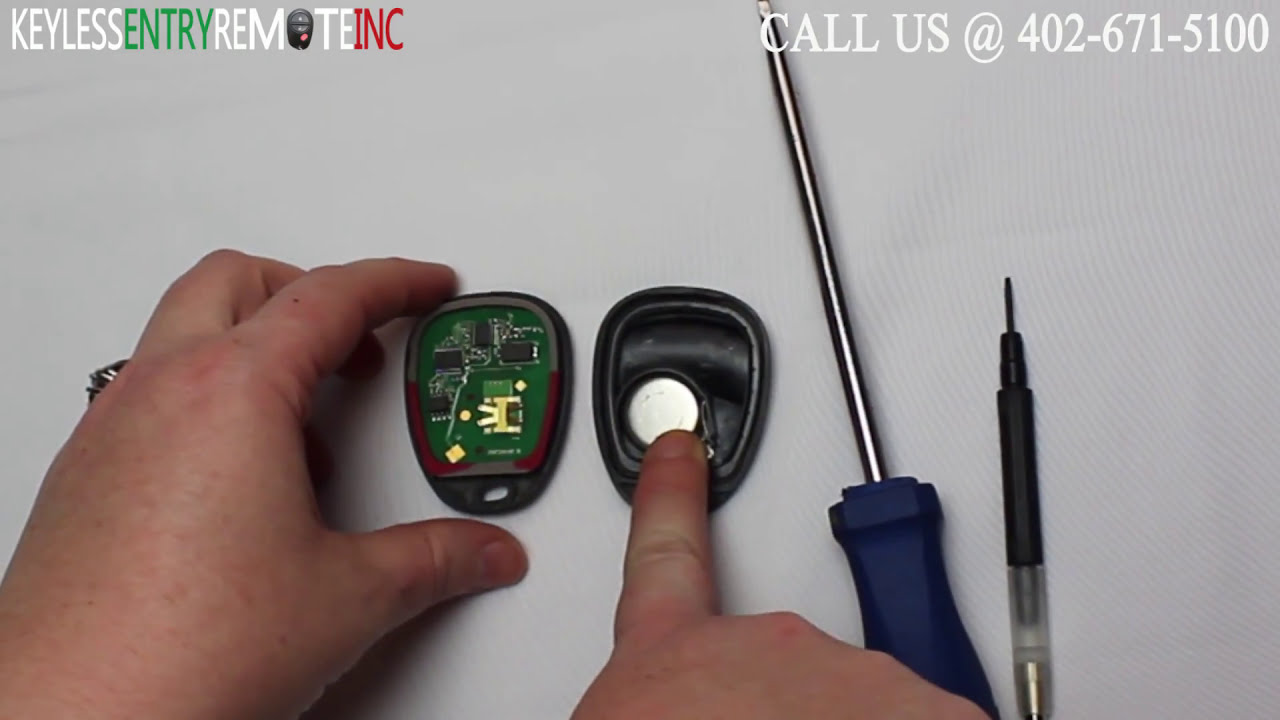 How To Replace Gmc Envoy Key Fob Battery 2002 2009 Youtube