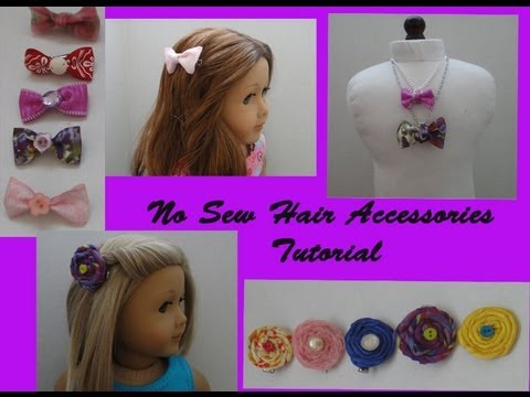 how to make no sew hair accessories for your american girl doll youtube. Black Bedroom Furniture Sets. Home Design Ideas