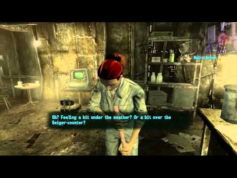Damian Plays Fallout 3 #2 Wasteland Survival Guide: FORCE FEEDING IRRADIATED WATER!
