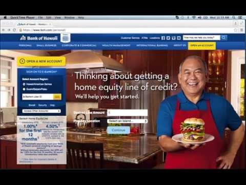 Bank of Hawaii Online Banking Login Instructions