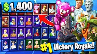 Most EXPENSIVE $1400 Account! | RAREST SKINS INVENTORY!! ( Fortnite News )