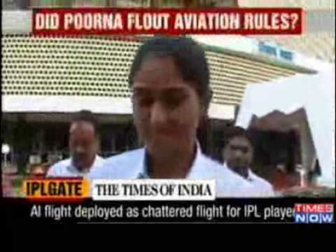 Poorna Patel pulled out scheduled AI flight for IPL