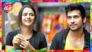 Prachi Tehlan & Namish Taneja Talk About HOLI   Ikyawann   Fun Segment