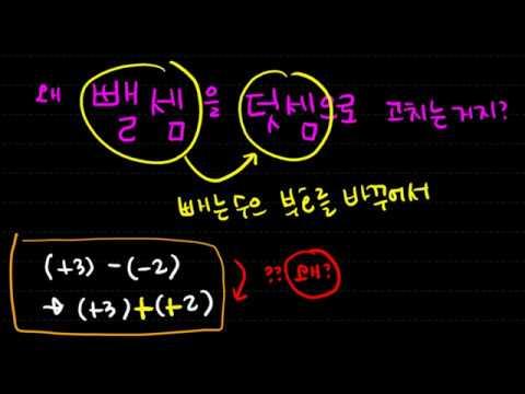 [질문1] 뺄셈을 왜 덧셈으로 바꿀까, 중학수학, 정수와 유리수의 뺄셈,  이지연 선생님, 중학수학 유형레시피
