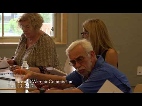 Finance and Warrant Commission 6/13/2017