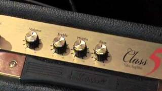 Marshall Class 5 guitar amplifier demo with Fender Stratocaster