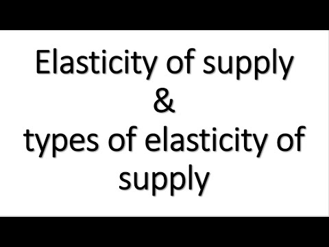 Elasticity Of Supply Types Of Elasticity Of Supply Lecture 8 Chapter 3 Youtube