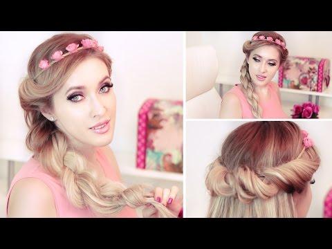 braided-headband-hairstyles-for-a-party/prom/wedding-★-medium/long-hair-tutorial