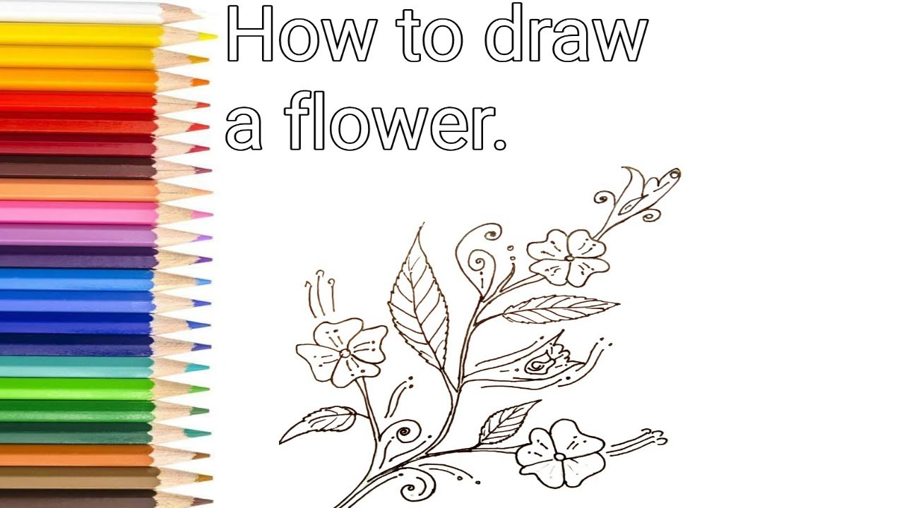 How To Draw Wedding Flower Design Step By For Kids