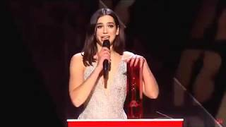 DUA LIPA - Brit Awards 2018 -BRITISH BREAKTHROUGH ACT-