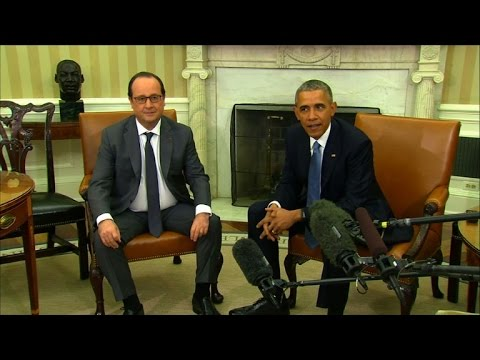 French President Hollande arrives in Washington
