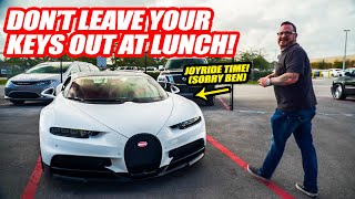STEALING OUR FRIEND'S BUGATTI CHIRON! (Yes, really lol) *1600HP QUAD TURBO SUPERCAR*