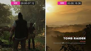 SSD vs HDD Shadow of the Tomb Raider Loading Time Comparison