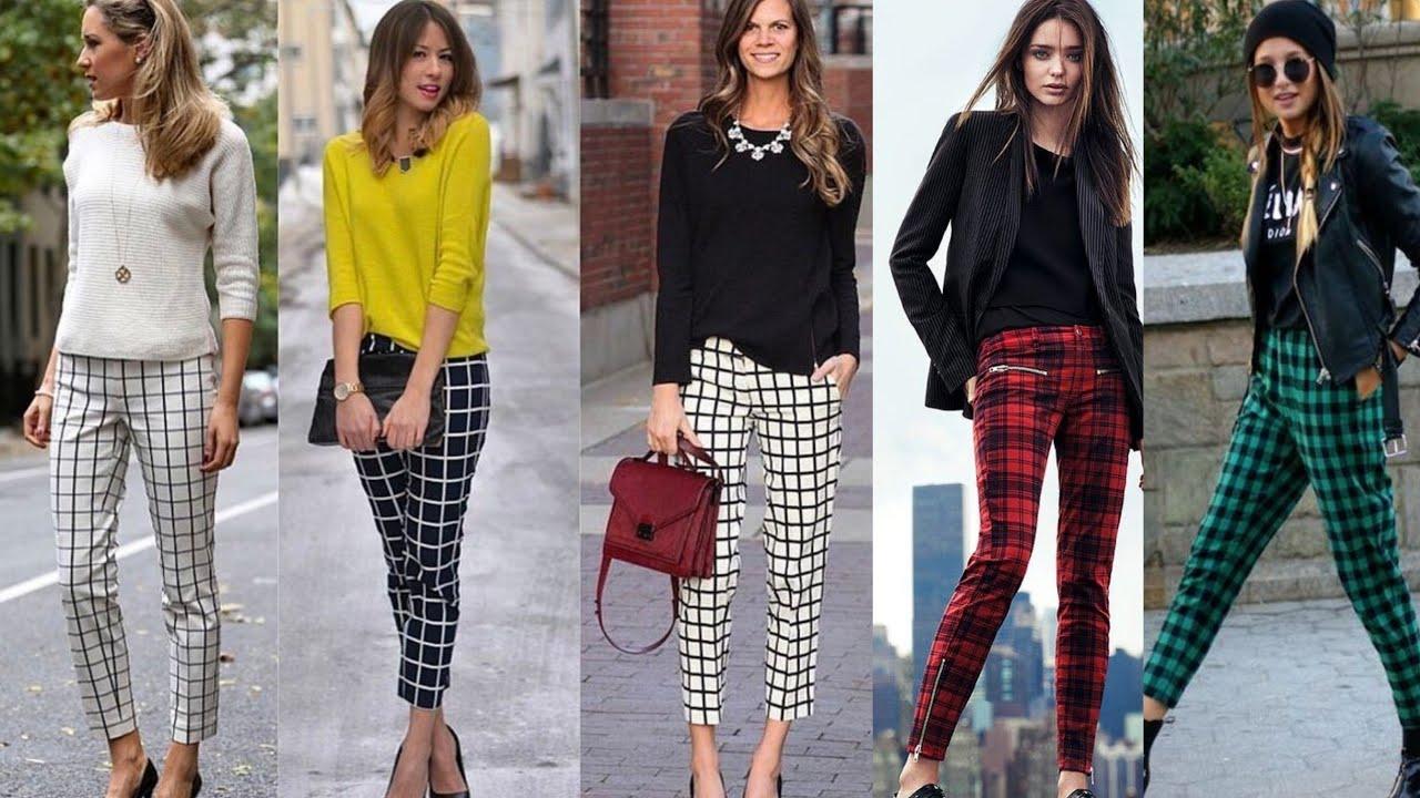 Outfits De Moda Con Pantalones A Cuadros Youtube