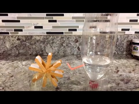 how to make a water wheel project