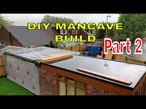DIY MAN CAVE BUILD – Part 2 – Garden Office – Shed –