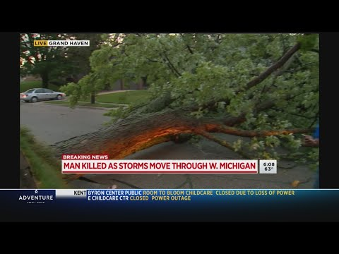 Grand Haven man killed as powerful storms move through the area