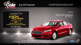 2015 Ford Fusion July Offer SP