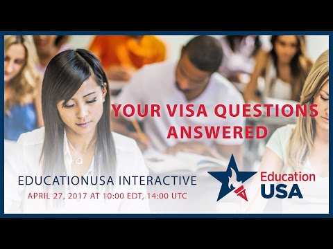 EdUSA Interactive: Your Visa Questions Answered