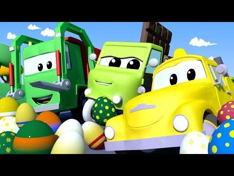 La Super Patrulla - Día de Pascua : El robo de huevos - Auto City | Dibujos animados de carros