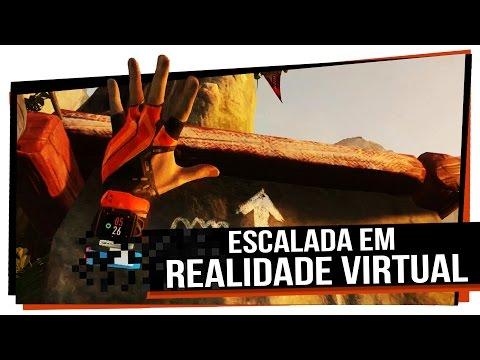 Escalada em Realidade Virtual feita pela Cryteck