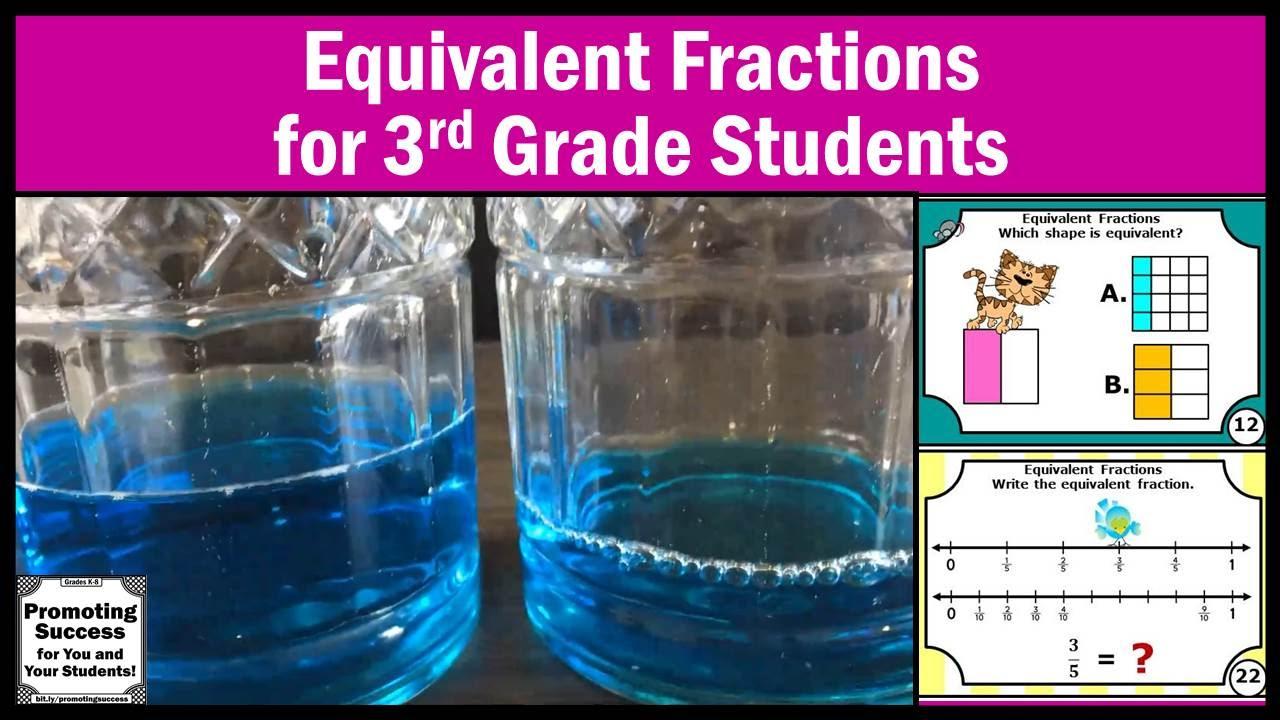 Equivalent Fractions for 3rd Grade Kids Visualizing Number Lines ...
