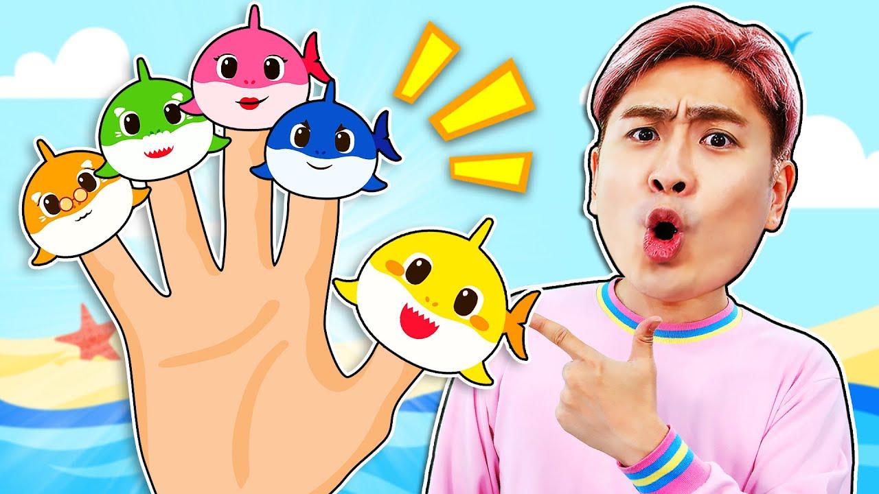 강이와 아기상어 손가락 동요 인기 영어 동요를 배워요!  Five Finger Family Baby shark kids Song Nursery Rhymes