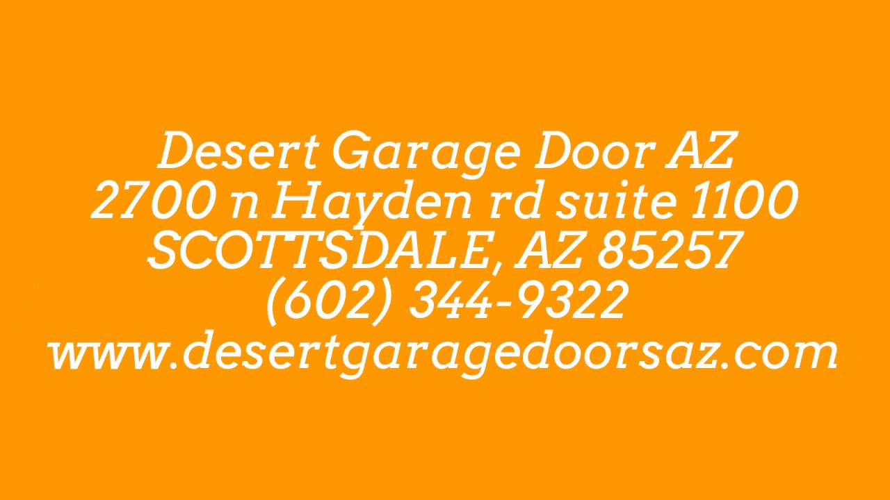 Garage Door Repair Scottsdale AZ | (602) 344 9322 |