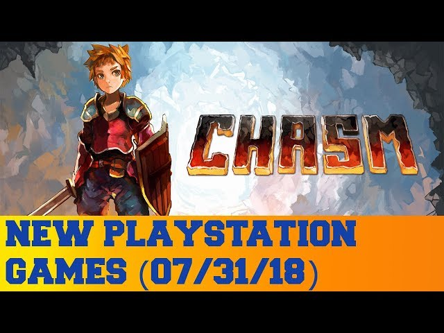 New PlayStation Games for July 31st 2018