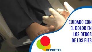En dolor pie dedos parte entumecimiento y pies de del y superior la los