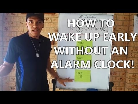 How To Wake Up Early Without An Alarm Clock ( Subsconsc ...