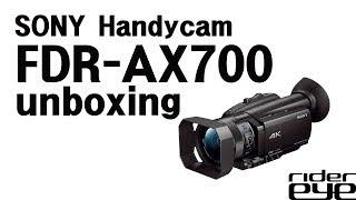 SONY FDR-AX700 Handycam Unboxing 소니 FDR-AX700 핸디캠 언박싱 2017....