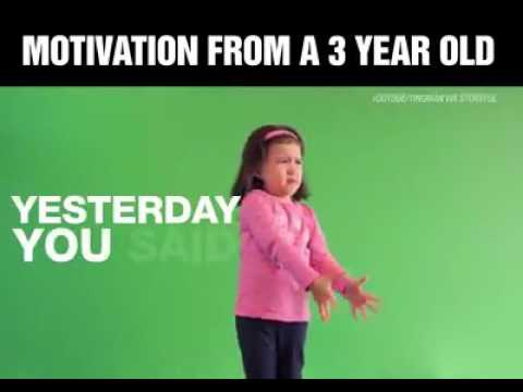 Download WOW! WHAT A MOTIVATIONAL SPEECH FROM A 3 YEARS OLD GIRL