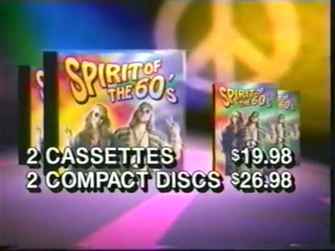 Spirit of the 60s music cd commercial