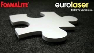Cutting of / Schneiden von DIBOND®, FOREX®, KAPA®, FOAMALITE®, SMART-X® - eurolaser