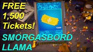 SMORGASBORD LLAMA #2 | FREE 1,500 Tickets! | Fortnite Save The World