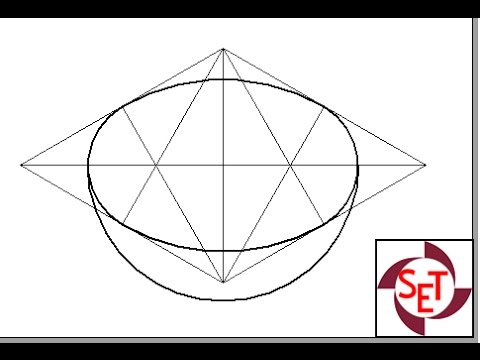 Isometric projection of a hemisphere using Solid Edge