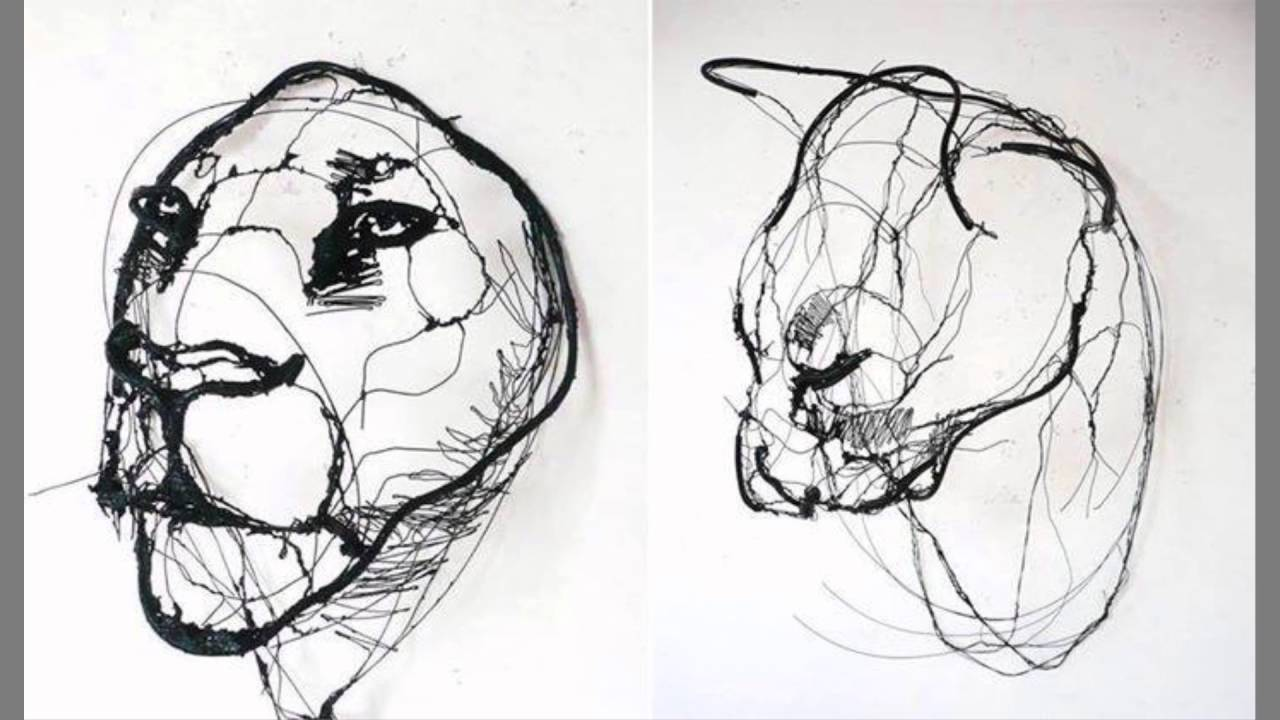 Wire Animal Sculptures by David Oliveira, full ᴴᴰ ...