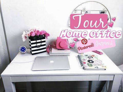 TOUR pelo meu HOME OFFICE Pinterest Inspired #RoseOfficeDaMari