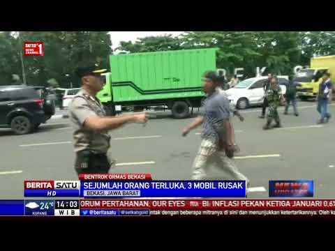 Demo Ormas di Bekasi Berakhir Bentrok