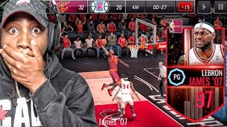 97 OVR LEBRON JAMES AT POINT GUARD BEASTIN! NBA Live Mobile 16 Gameplay Ep. 119