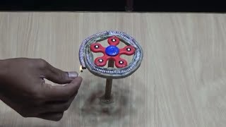 EXPERIMENT FIDGET SPINNER vs CHAKRI FIRE CRACKER AMAZING RESULT 2019