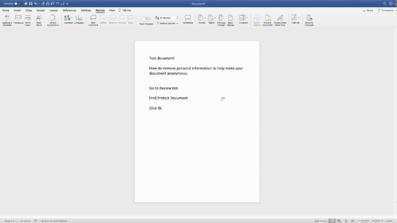 Document Inspector Word Mac