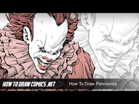"""How To Draw Pennywise - From Stephen King's """"IT"""""""