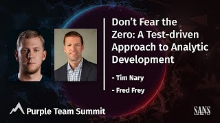 Don't Fear the Zero: A Test-driven Approach to Analytic Development | PurpleTeam Summit 2021