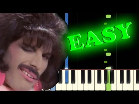 QUEEN - I WANT TO BREAK FREE - Easy Piano Tutorial