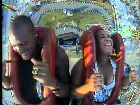 Funny Sling Shot Ride Panama City Beach 06 12